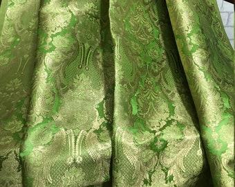 Tie Altea Milano woven dark brown and Mint green Brocade