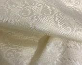 SALE 30 Indian brocade Ivory fabric, Dress fabric, Fancy fabric, Chevron pattern, Indian silk, Brocade fabric by yard NFAF115