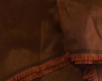 SALE 30% OFF Brown Rust Dupioni Art/ Poly Silk Fabric, Handloom Silk Fabric Dress Apparel Wedding  Bridal Indian Silk Fabric By Yard