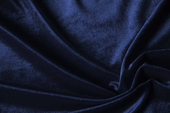 sale 20 navy blue velvet fabric dress stretch velvet etsy. Black Bedroom Furniture Sets. Home Design Ideas