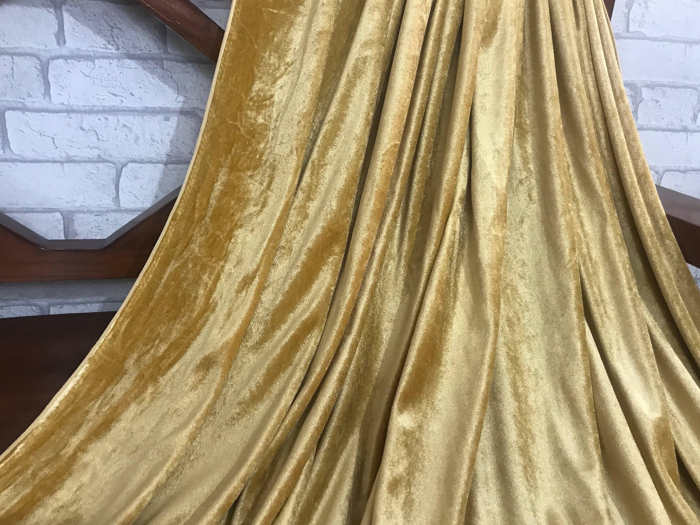 sale 20 gold velvet fabric dress strech velvet commercial etsy. Black Bedroom Furniture Sets. Home Design Ideas