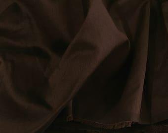 sale 30% OFF Chocolate Brown Dupioni Art Silk Fabric,Handloom Silk Fabric Dress Apparel Wedding Bridal Silk Fabric By Yard