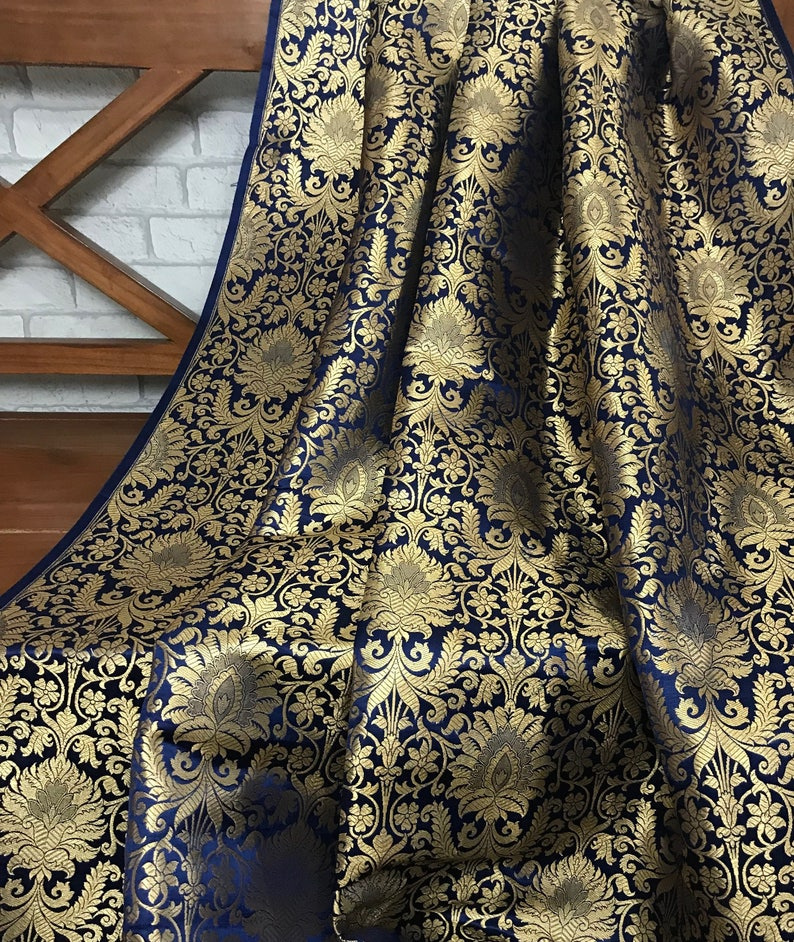 Embroided Royal pure silk curtain fabric