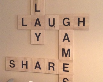 Lg 8x8 Wall Scrabble Tiles Individual Letters Or Set