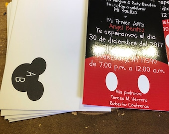 Mickey mouse invitations  invitaciones de mickey para esa ocasion especial