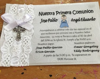 Invitaciones para primera comunion  invitations for first comunion
