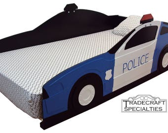 Police Car Twin Kids Bed Frame
