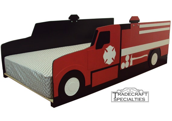 Fire Truck Twin Kids Bed Frame Handcrafted Themed Etsy