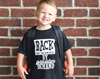 Back to School By Popular Demand - First day of school