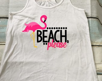 Beach Please Tank - Vacation - Fun Workout - Funny Tank