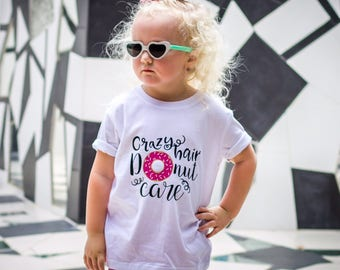 Crazy Hair Donut Care - Shirt - Curly Hair Don't Care