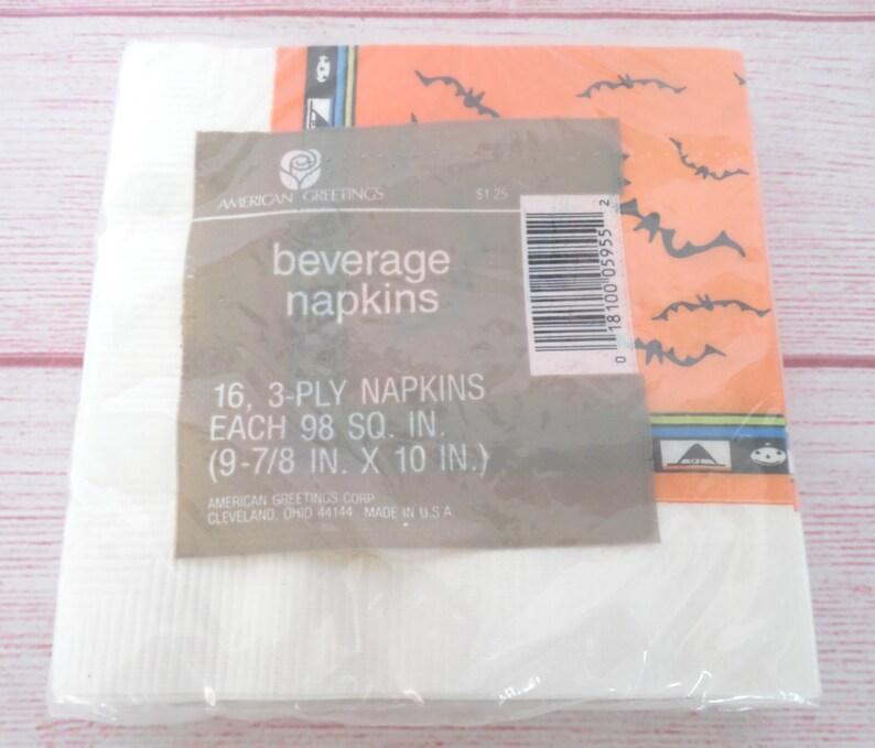 Vintage HALLOWEENPaper Napkins16 Beverage Napkins1980sNIP