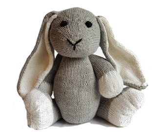Downy the Hand Knit Bunny, soft toy, Handmade, stuffed animal, children's toy, baby shower gift, Easter, nursery decor, soft bunny, plush