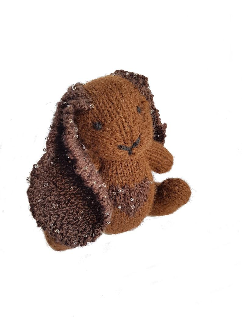 Toy Tessa the Hand Knit Bunny Stuffed Animal gift cute bunny Stuffed Toy bunny stuffie Easter soft Bunny