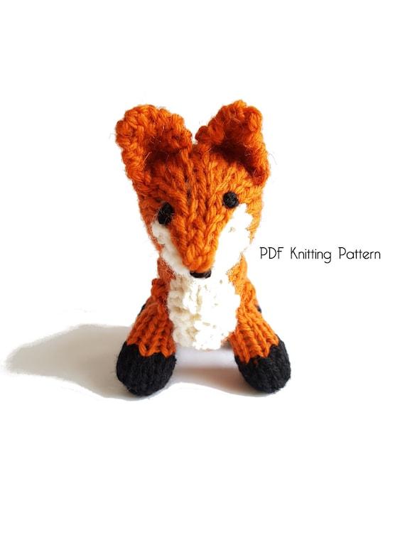 Knitted Tiny Fox Pattern Pdf Pattern Knitting Pattern Diy Etsy