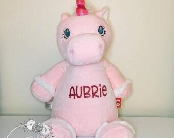 Personalized Plush Blue Unicorn Personalized Stuffed Animal Etsy