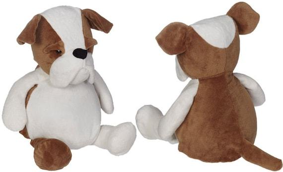 Large Personalized Plush Bulldog Personalized Stuffed Animal Etsy