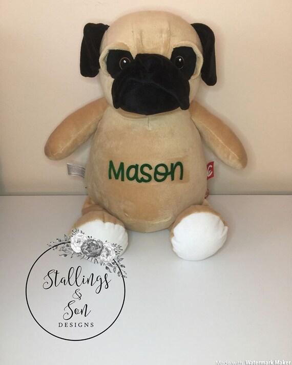 Personalized Pug Dog Personalized Stuffed Animal Pug Plush Etsy