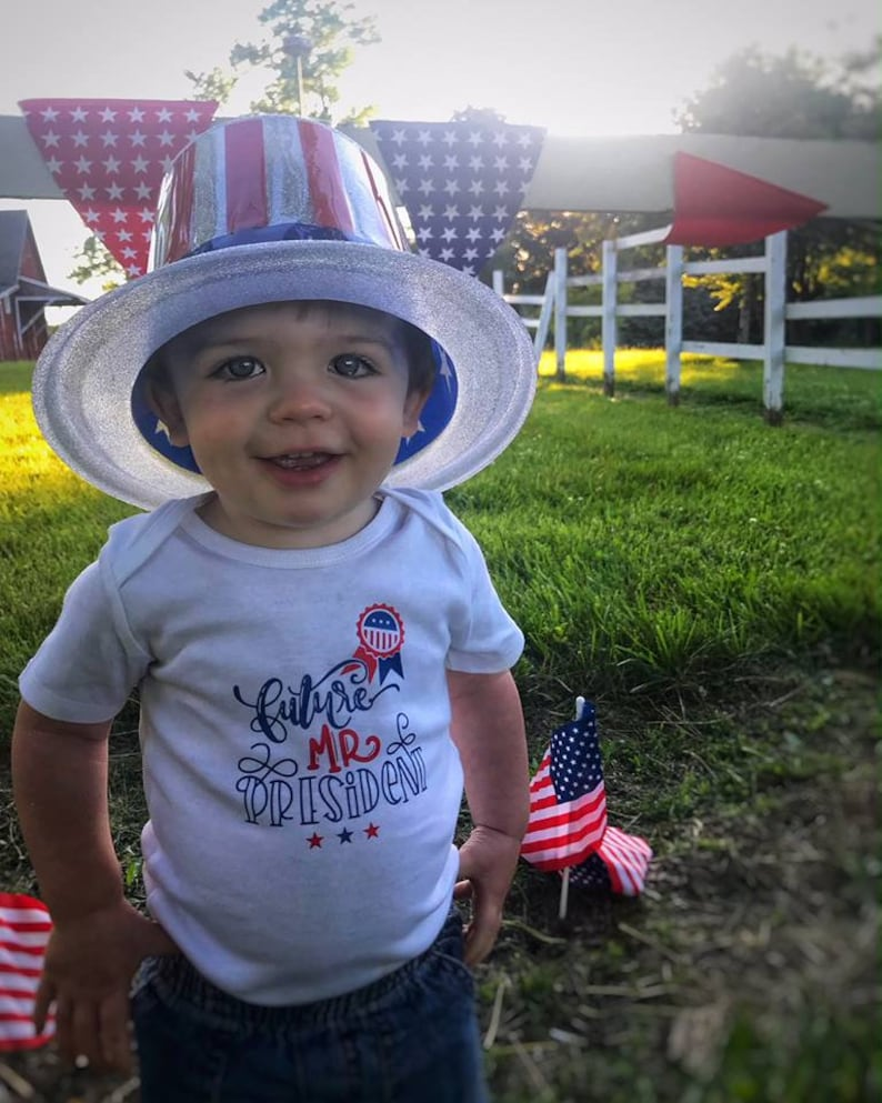 Future Mr President Shirt or Bodysuit  Fourth of July Shirt  Boy/'s 4th of July Shirt  Independence Day  Mister President Boy President