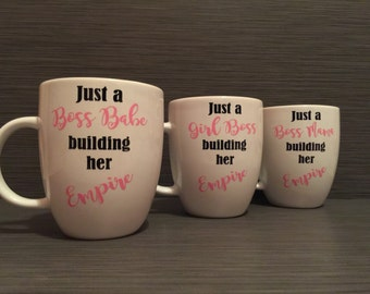 Just A Girl Boss Building Her Empire Mug // Just A Boss Babe Building Her Empire // Just A Boss Mama Building Her Empire Boss Babe Boss Mama