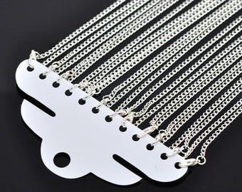 "Chain necklace 46cm (18""), 62cm (24"") or 78cm (30"") 2x3mm mesh"
