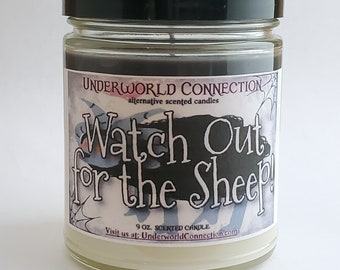 WATCH OUT for the SHEEP! scented candle