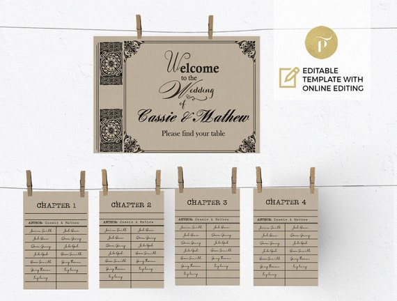 Printable Seating Chart Template Editable online template | Etsy