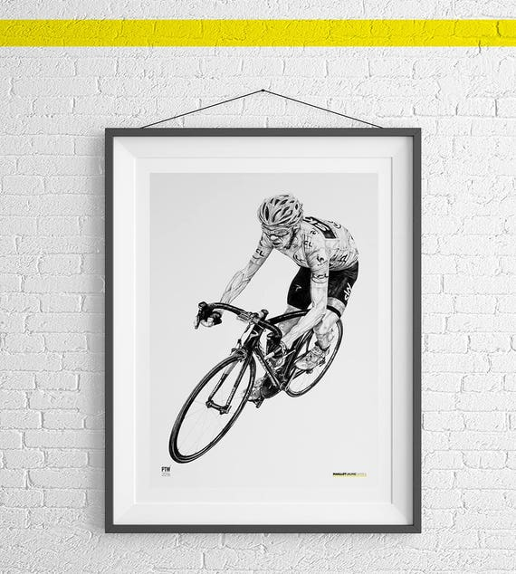 Miguel Indurain A4 Art Motivational Print Cycling Gift