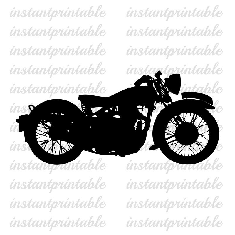 old motorcycle clipart  Old motorcycle download motorcycle clipart clip art fabric | Etsy