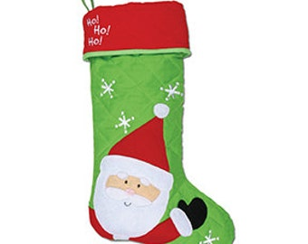 Stephen Joseph Christmas stocking, santa stocking, personalized Christmas stocking
