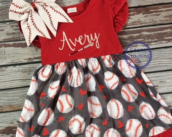 fd4b2a9ff35 personalized baseball dress