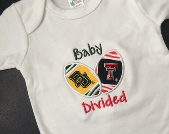 Baby Divided, Texas Football baby, House Divided bodysuit
