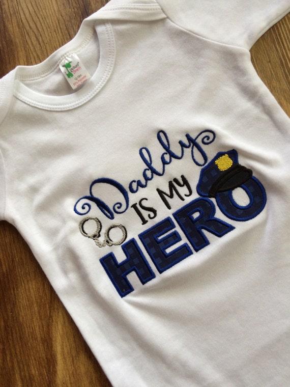 Policía regalo del bebé ropa del bebé de Papá policía vivero | Etsy