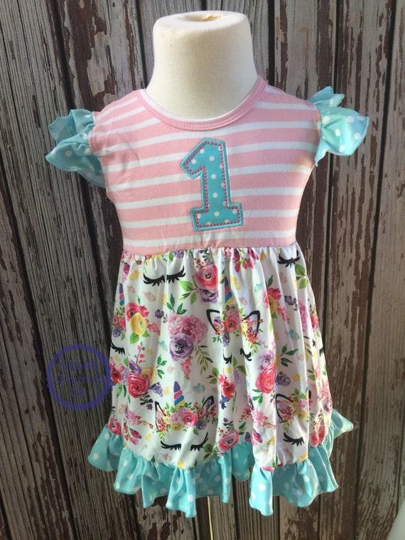 Unicorn Birthday Dress1st Dressunicorn 2nd
