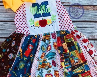kindergarten dress, kindergarten outfit, first day of kindergarten, first grade dress, first grade outfit, pre-k dress, pre-k outfit