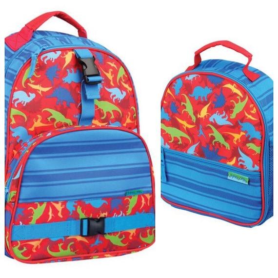 778a7cda4080 Stephen Joseph dinosaur backpack and lunchbox set, little boy backpack,  matching backpack lunchbox, dino lunchbox, dino backpack