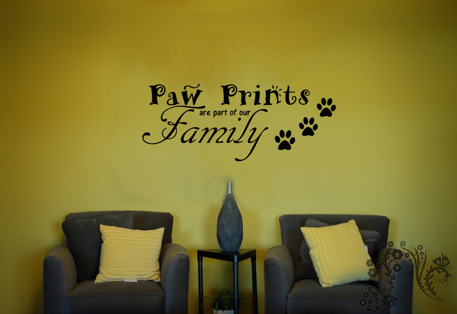 Paw Prints are part of our Family Wall Decals Wall Decal | Etsy