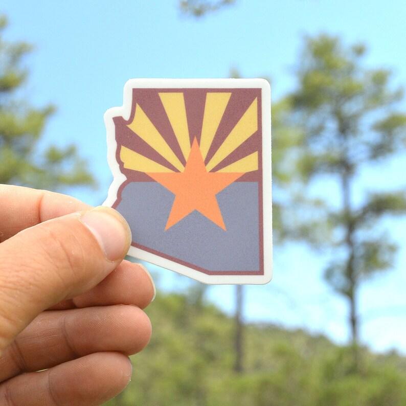 Arizona flag  Arizona state  Arizona stickers. laptop image 0