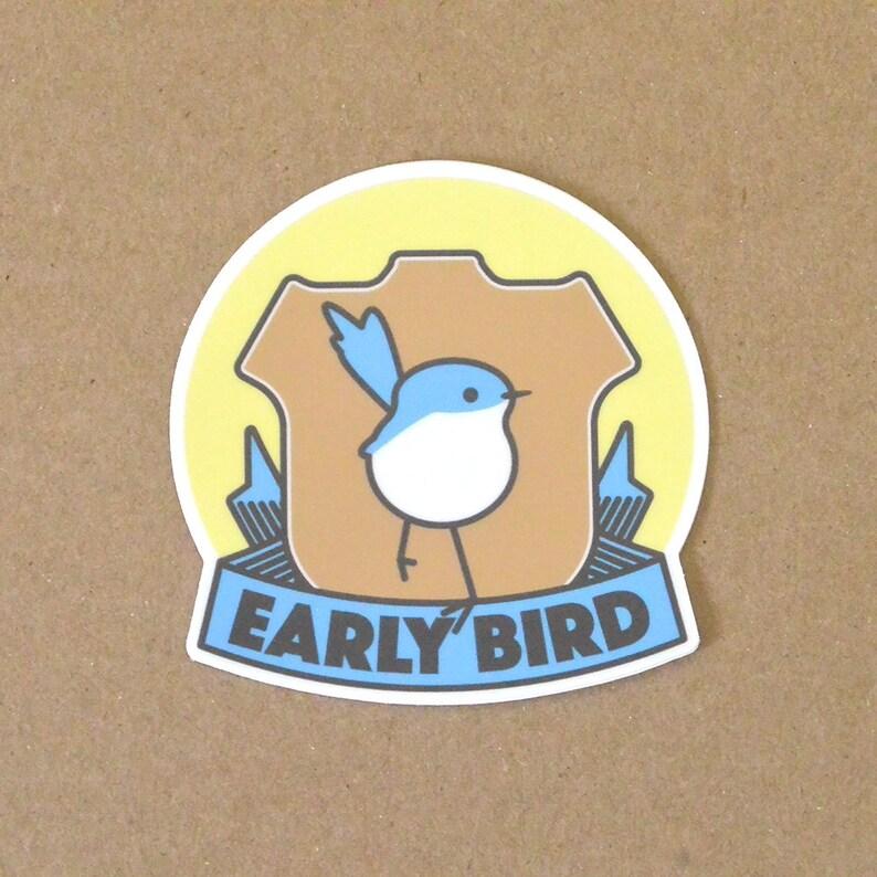 Sticker laptop sticker bumper sticker bird blue bird image 0