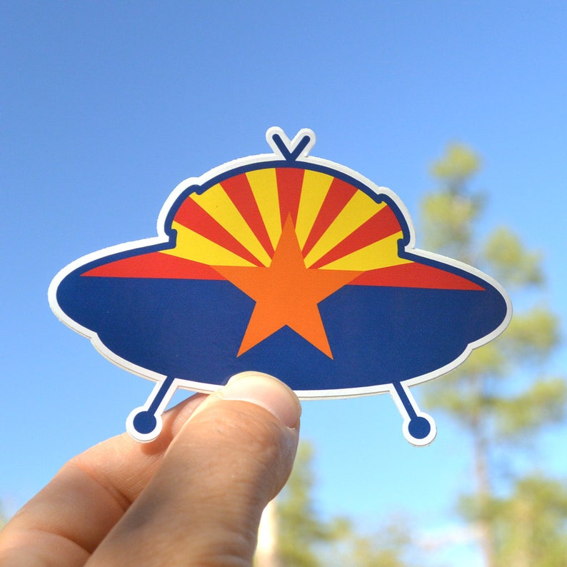 Flag Arizona Sticker. Abduct Arizona flag vinyl sticker image 0