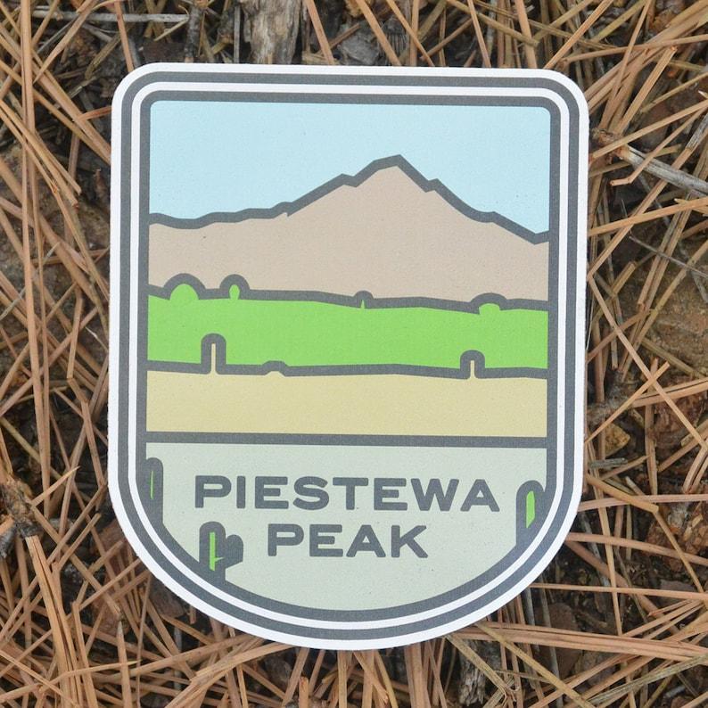 Hiking sticker. bumper sticker laptop sticker Piestewa Peak image 0