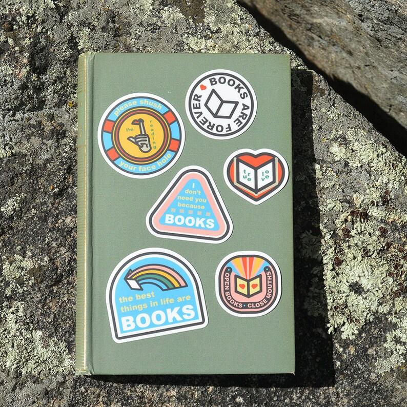 Book Fair Sticker Pack 6 piece sticker pack books gift image 1