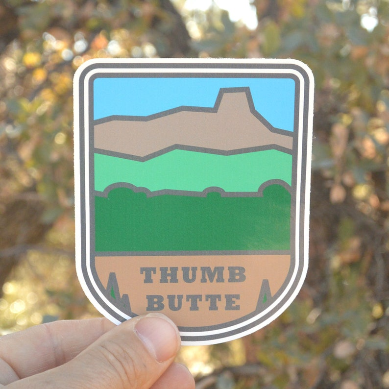 Hiking sticker. Sticker. bumper sticker laptop sticker Thumb image 0