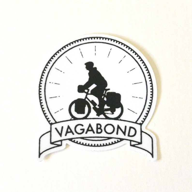 sticker laptop sticker bumper sticker bike touring image 0