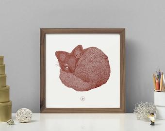 ARCTIC FOX   Brick Red HQ Pigment Print