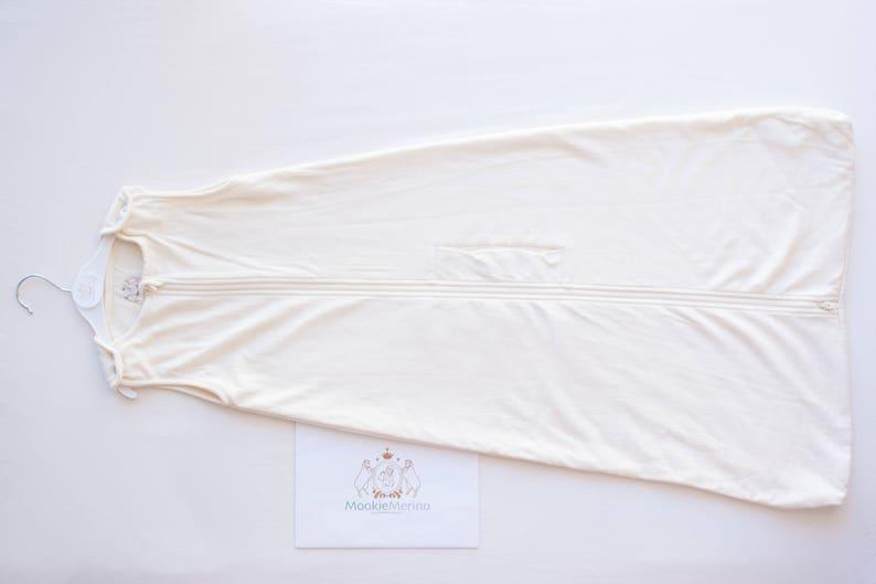 4 Seasons MookieMerino 4-Season Sleep Bag Unique Baby Gift 2-24 Months Boy Girl Unisex Cream Baby Sleeping Bag Organic Merino Wool