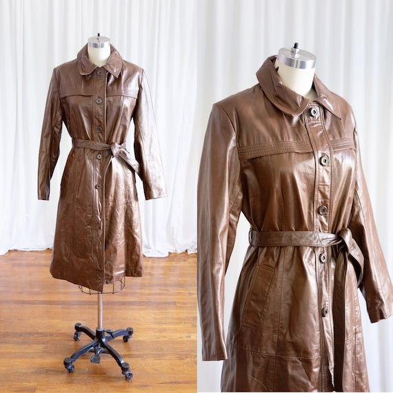Live & Let Die coat | vintage 70s leather coat | v