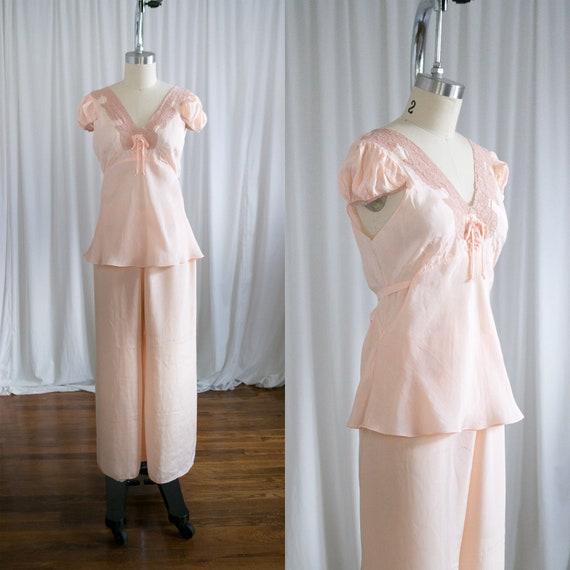 Esmee pajamas set | vintage 30s lingerie | peach s