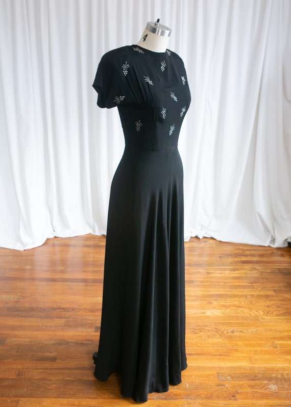 Wish Upon A Star gown | vintage 40s evening gown … - image 4