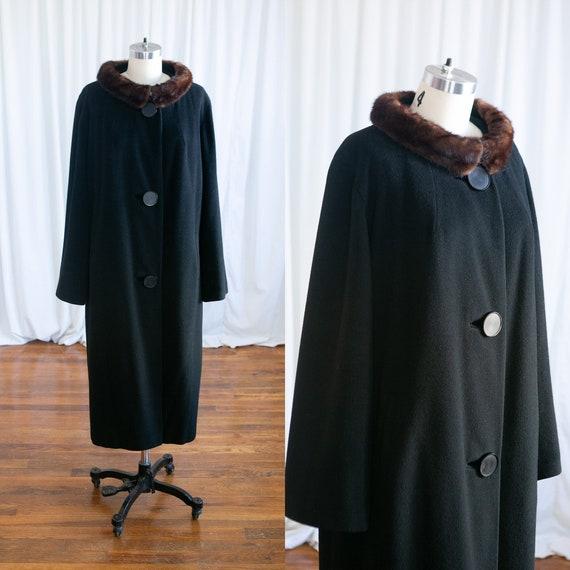 Outlier coat | vintage 50s coat | 1950s black cash